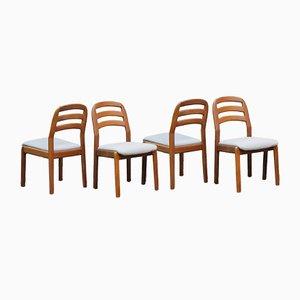 Dänische Stühle von Dyrlund, 1970er, 4er Set