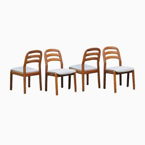 Danish Chairs from Dyrlund, 1970s, Set of 4