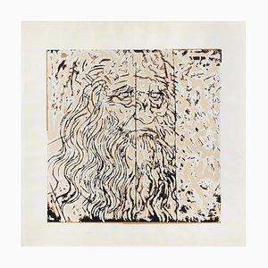 Mario Schifano, Leonardo, Serigrafia a colori
