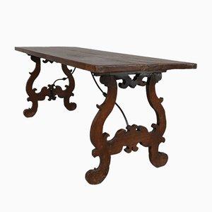 Antiker spanischer Esstisch aus Eiche