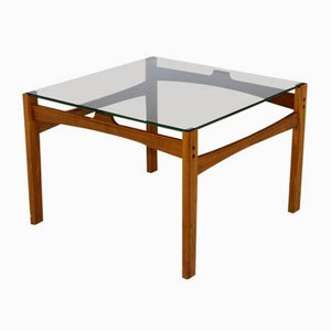 Smoked Glass Coffee Table, Sweden, 1960