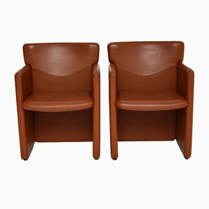 Vintage Leather Armchairs, 1970s, Set of 2