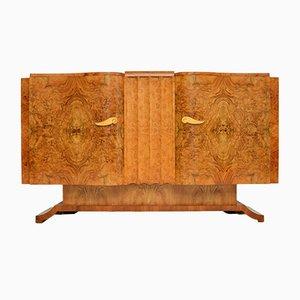 Art Deco Burr Walnut Sideboard from Hille, 1930s