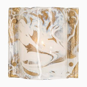 Murano Ice Glass Wall Sconce from Hillebrand, Germany, 1970s