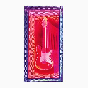 Guitar Infinity Wall Decoration Mirror by Raphael Fenice