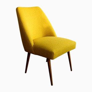 Club chair vintage gialla in lana Kvadrat, Germania, anni '60