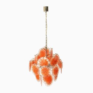 Smoked Glass Disc Chandelier by Gino Vistosi, Italy, 1960s