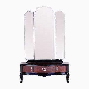 Czech Art Deco Ebonized Walnut Dressing Table, 1920s