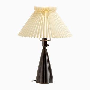 Black Ceramic Table Lamp from Søholm, Denmark, 1950s