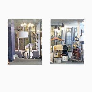 Italienische Mid-Century Modern Spiegel von Gianni Celada für Fontana Arte, 1970er, 2er Set