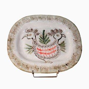 Keramik Vogel Schale von Albert Thiry für Vallauris, Frankreich, 1950er