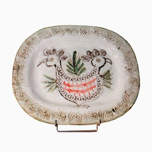 Piatto in ceramica di Albert Thiry per Vallauris, Francia, anni '50