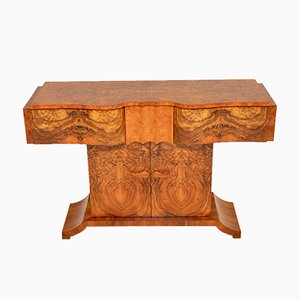 Art Deco Burr Walnut Console Table from Hille