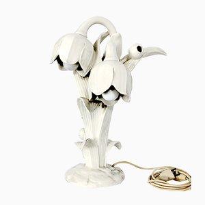Italian White Porcelain Table Lamp, 1930s