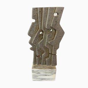 Tonino Guerra, Skulptur aus Metall mit Marmorsockel