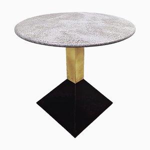 Brassa und Granit Tische aus Marmor & Messing, 1970er, 4er Set