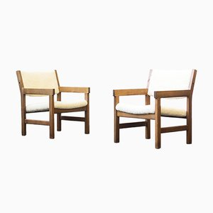 Lounge Chairs by Hans J. Wegner for Getama, 1960s, Set of 2