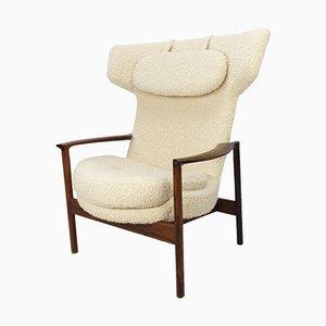 Large Wing Back Lounge Chair by Ib Kofod-Larsen, Denmark, 1950s