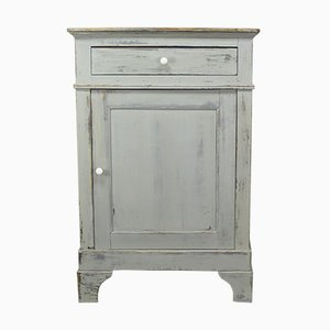 Gray Painted Cabinet, 19th Century