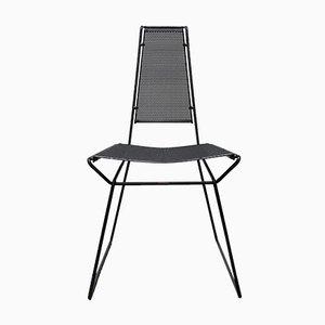 Vintage Postmodern Metal Side Chairs by Rolf Rahmlow, 1980s, Set of 4