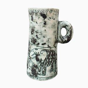 Französischer Keramikkrug oder Vase von Jacques Blin, 1950er