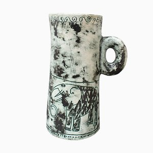 French Ceramic Pitcher or Vase by Jacques Blin, 1950s