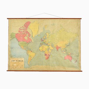 Large World Wall Map from Philips