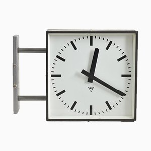 Large Double Sided Wall Clock from Pragotron