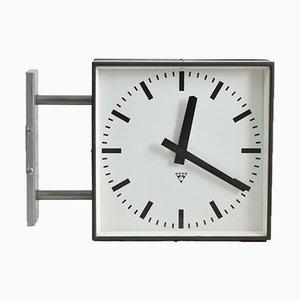 Reloj de pared grande de doble cara de Pragotron