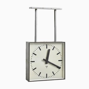 Large Double Sided Ceiling Clock from Pragotron