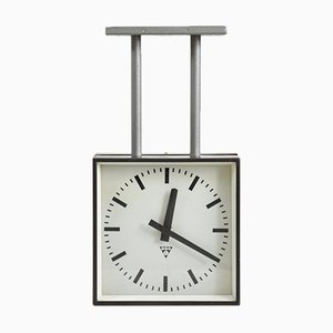 Small Double Sided Ceiling Clock from Pragotron