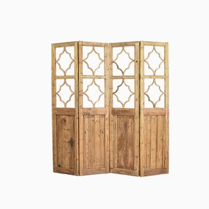 2 Pane Wooden Room Divider