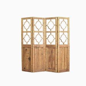 Divisorio a due pannelli in legno