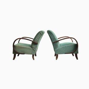 Model 410 Armchairs by Jindrich Halabala, Set of 2