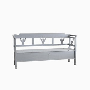 Hungarian Pale Grey Settle Bench
