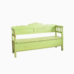 Hungarian Lime Green Settle Bench