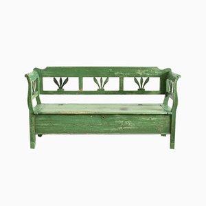 Hungarian Dark Green Settle Bench