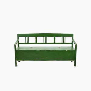 Hungarian Forest Green Settle Bench