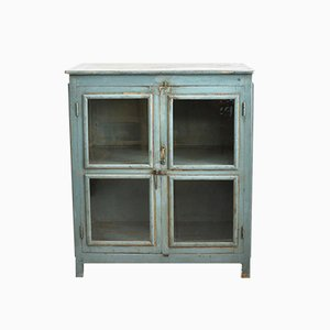 Blue Glass Fronted Cupboard