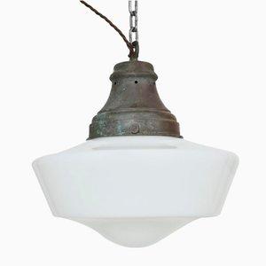 Church Pendant Light in Opaline