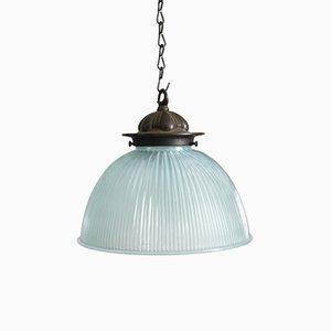 Blue Glass Light from Holophane