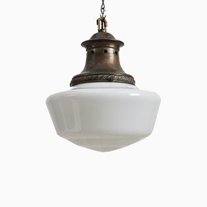 Opalglas Kirchenlampen, 2er Set