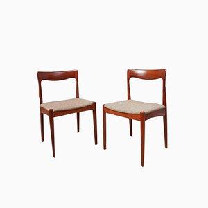 Dänische Mid-Century Esszimmerstühle von Arne Vodder für Vamo, 2er Set