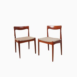 Mid-Century Danish Dining Chairs by Arne Vodder for Vamo, Set of 2