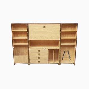 Mid-Century Danish Teak Effect Bi-Fold Away Desk in a Box