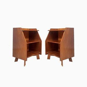 Mid-Century Danish Teak Bedside Table Cabinets, Set of 2