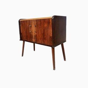 Mid-Century Compact Media Record Vinyl Cabinet Unit