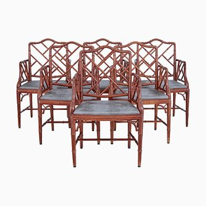Bamboo Effect Dining Armchairs from Miranda of Sweden, Set of 6