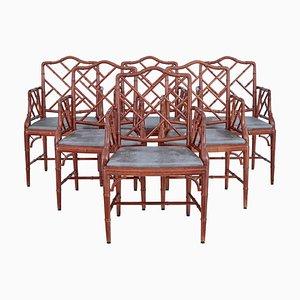 Esszimmerstühle mit Bambus Optik von Miranda of Sweden, 6er Set