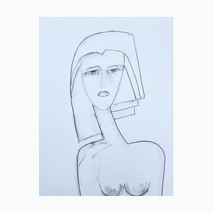 André Ferrand, Portrait 4, 2011, Bleistift auf Papier
